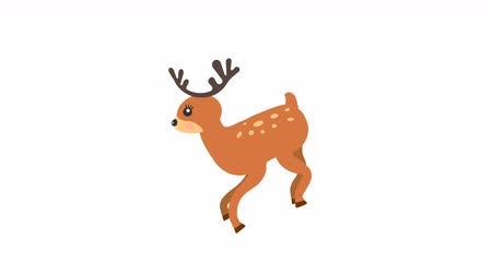 hind : Running deer walking animation with optional luma matte. Alpha Luma Matte included.