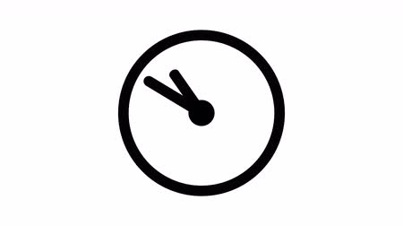 cronômetro : Stopwatch animated icon. Clock with moving arrows animation with optional luma matte. Alpha Luma Matte included. Vídeos