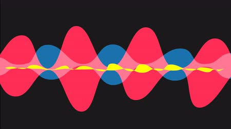 yüksek sesle : Speaking sound wave animation with optional luma matte. Alpha Luma Matte included.