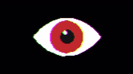 get out : Eye pixel animation with optional luma matte. Alpha Luma Matte included.