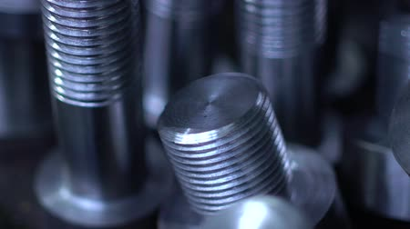 vidalar : Large metal products. Bolts Stok Video