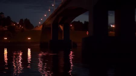 night river under the bridge