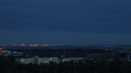 industrial outskirts evening