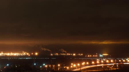 Oil Plant at night