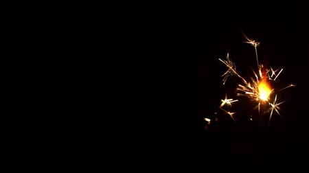 lentejoula : Burning Sparkler close-up Stock Footage