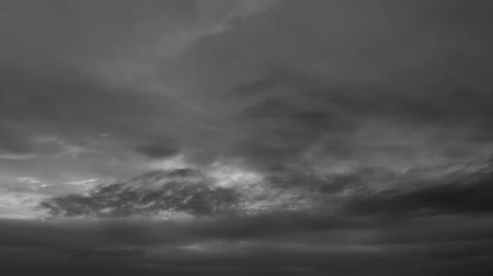 Black and White Sky Sunset Clouds