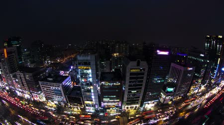 marmeláda : Seoul City Downtown Gangnam - Time lapse of traffic and architecture in downtown Gangnam. Seoul, Korea.