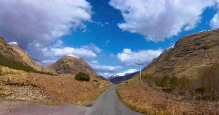 hyper : Hyper Lapse Driving Through the Scottish Highlands Stock Footage