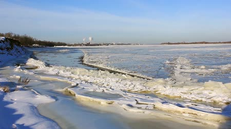 clash : Volga River, because of the strong current, only partially froze in January. Russia