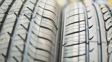 pneus : Cool close-up shot of Tires at Repair Shop