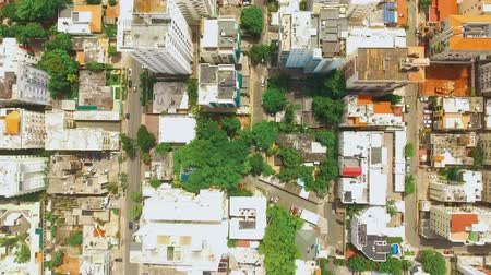 Aerial shot of Caribbean island Dominican Republic downtown with luxury buildings and houses during the day