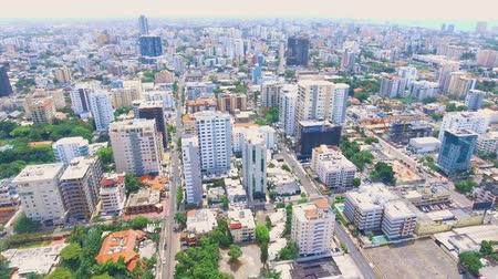 aventura : Aerial shot of Caribbean island Dominican Republic downtown area with buildings