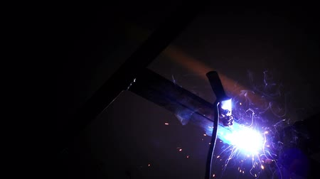 Welding Working Industrial Area and Sparks