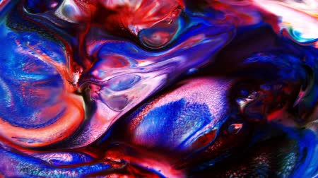 patroon : Abstract Colorful paint turbulence Explode