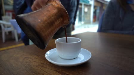 capuccino : Adding Turkish Coffee in a Cup
