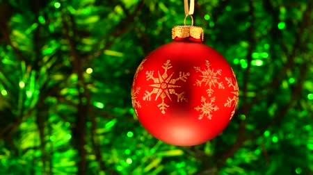 Green and red Christmas background