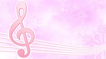 hangjegykulcs : G clef snow crystals loop bright background