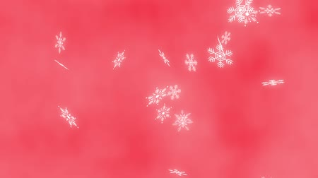 Loop vertical fast rotation Snow crystals bright background