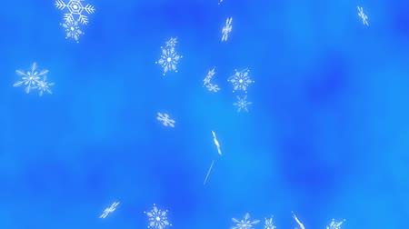 cristais : Loop vertical late Snow crystals bright background