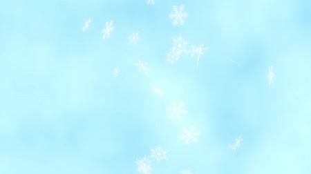 Loop vertical late rotation Snow crystals bright background