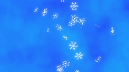diamond dust : Loop vertical late rotation Snow crystals bright background