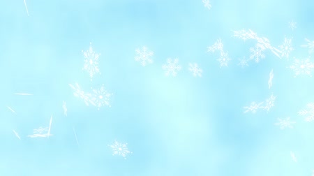 diamond dust : Loop Horizontal late rotation Snow crystals bright background