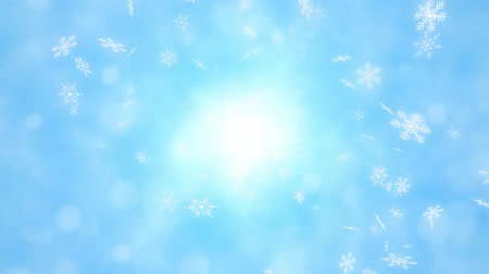 diamond dust : Loop back center Snow crystals bright background