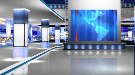 kapatmak : Virtual News Studio Set Background