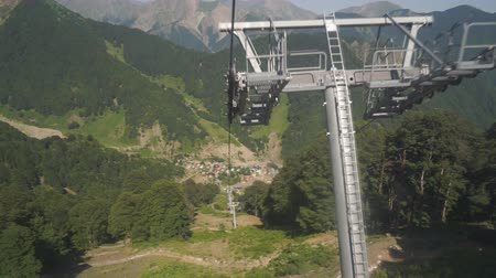 Ride on Cableway over the Mountain Wideo