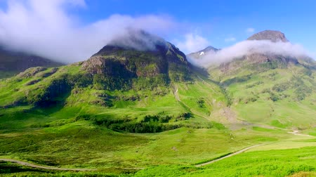 coe : Beautiful dawn over the mountains of Glencoe in Scotland