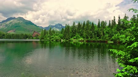 Словакия : Strbske Pleso lake in the Slovak Tatra mountains in summer