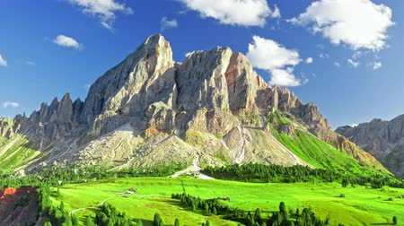 dolomite : Stunning view of Passo delle Erbe in Dolomites, aerial view