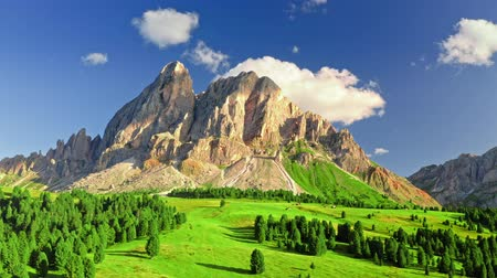 dolomite : Stunning aerial view of Passo delle Erbe, Dolomites