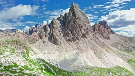 dolomiti : Aerial view of Monte Paterno in Dolomites, Italy