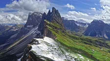 dolomitos : Aerial view of Seceda in Dolomites, South Tyrol