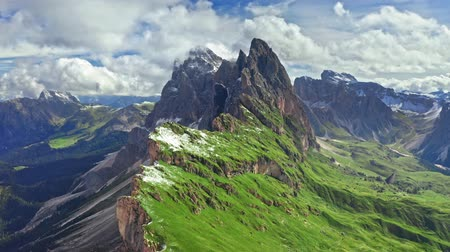 dolomit : Seceda in Dolomites, South Tyrol, view from above