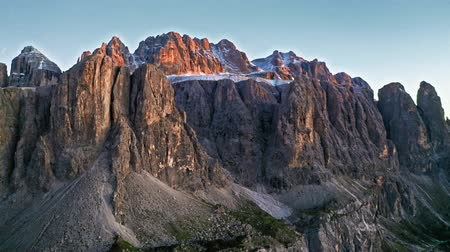 tirol : Sunset at Passo Gardena in Dolomites at sunset, Italy
