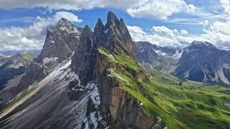 dolomiti : Stunning Seceda in South Tyrol, Dolomites, view from above