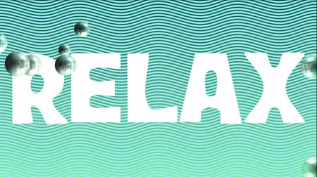 recondition : Relax animated title on light blue wavy background with bubbles