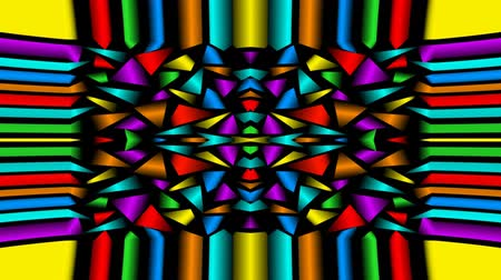peyote : Seamless loop abstract video background with multicolored fragments, kaleidoscope ornament