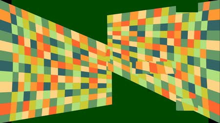 part of clip : Abstract video background with mosaic shapes, part surface crumbles, Shapes are rearranged