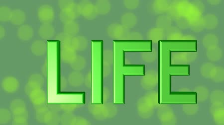 felvilágosodás : For life banner, green 3d letters, quality stars on green background with blurry bokeh lights, symbol 4life