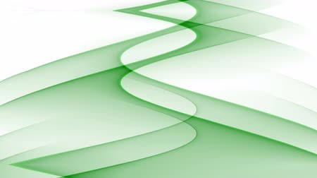 успокаивающий : Abstract video bakcground with green wavy curves on white background, upward movement, seamless loop