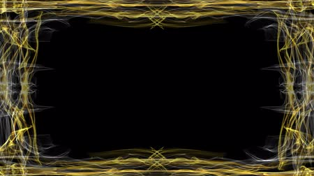 çerçeveler : Elegant luxurious golden frame on black background. Animated frame for own headlines and titles or other message.