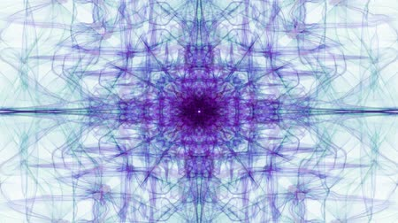 hipnoza : Purple fractal curves on white background. Vintage patterns in tunnel motion, beautiful decoration.