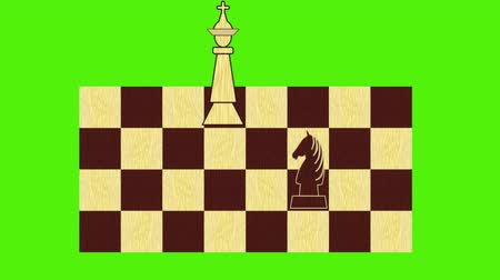 rytíř : Chess theme - black figures approach the white king, ending the game mat