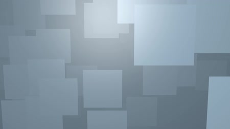emitter : Flying metal panels, abstract video with square board elements in diagonal motion through room, gray color, low contrasting Stock Footage