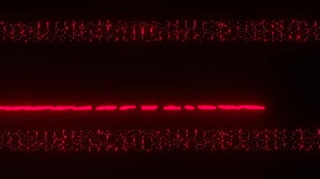 щеткой : Congratulations animated text in red color, decorative stripes composed of luminous dots, black background. Red neon glowing letters