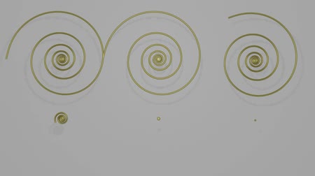 zatáčka : Rendering of metallic spirals, ornamental 3d render, ornament composed of gold spirals, gradually rendering brass spirals, abstract movie on gray background Dostupné videozáznamy