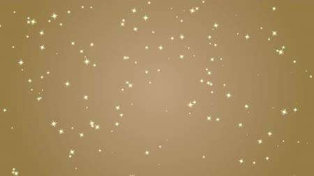 shimmer : Elegant gold background with flashing stars. Festive decorative background for celebration, Christmas and other events, star shape particles